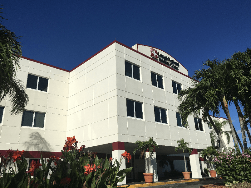 Exterior image of the medical center.