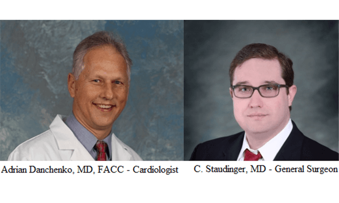 Dr. Danchenko and DrC. Staudinger, MD